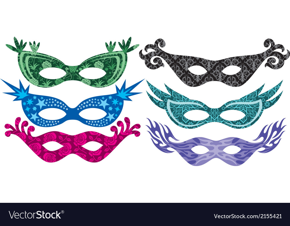 Carnival masks vector | Price: 1 Credit (USD $1)