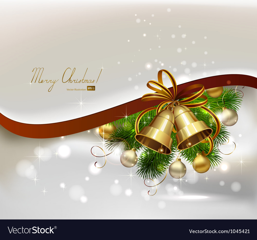 Christmas background with fir tree vector | Price: 1 Credit (USD $1)