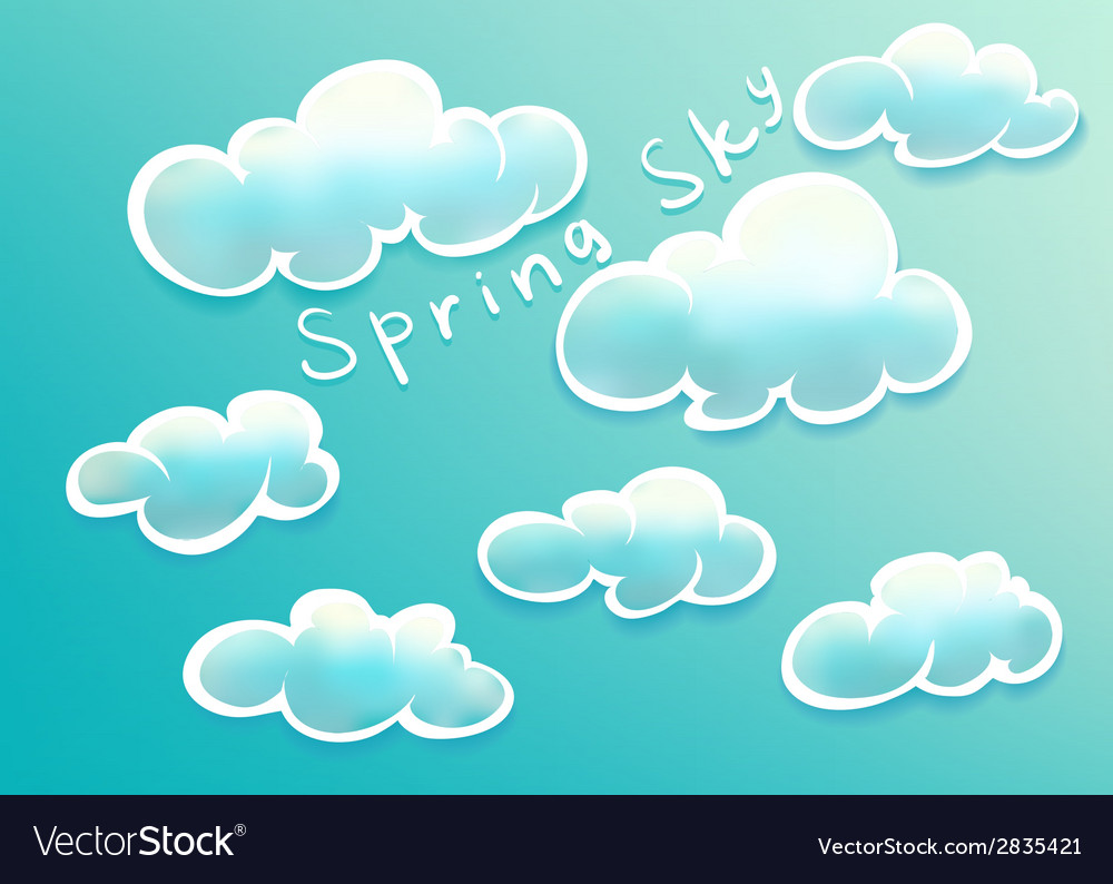 Clouds on spring sky vector | Price: 1 Credit (USD $1)