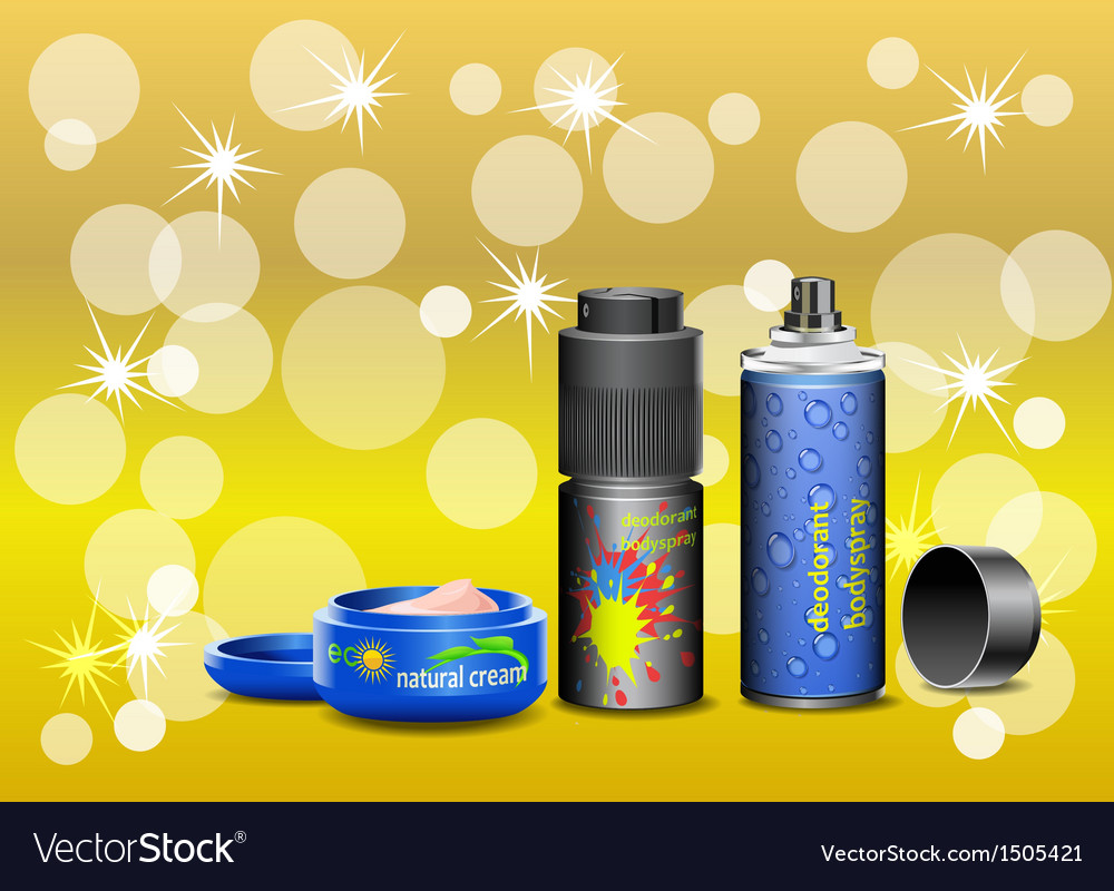 Cosmetic cream and deodorant vector   Price: 1 Credit (USD $1)