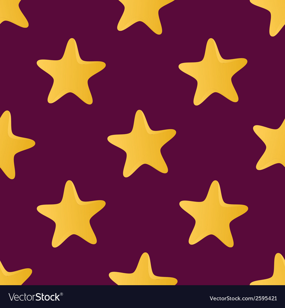 Cute seamless pattern tiling made of stars endless vector | Price: 1 Credit (USD $1)
