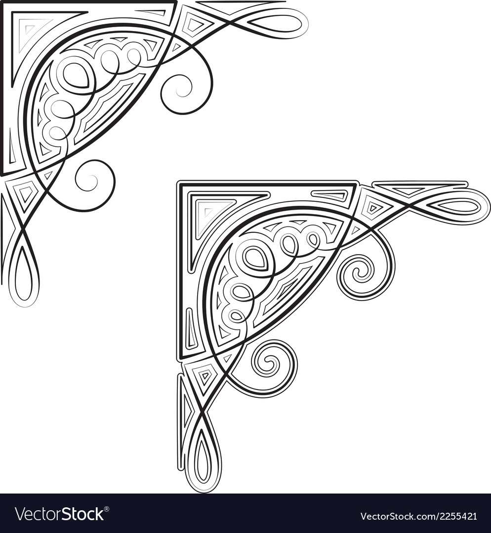 Decorative corner vector | Price: 1 Credit (USD $1)