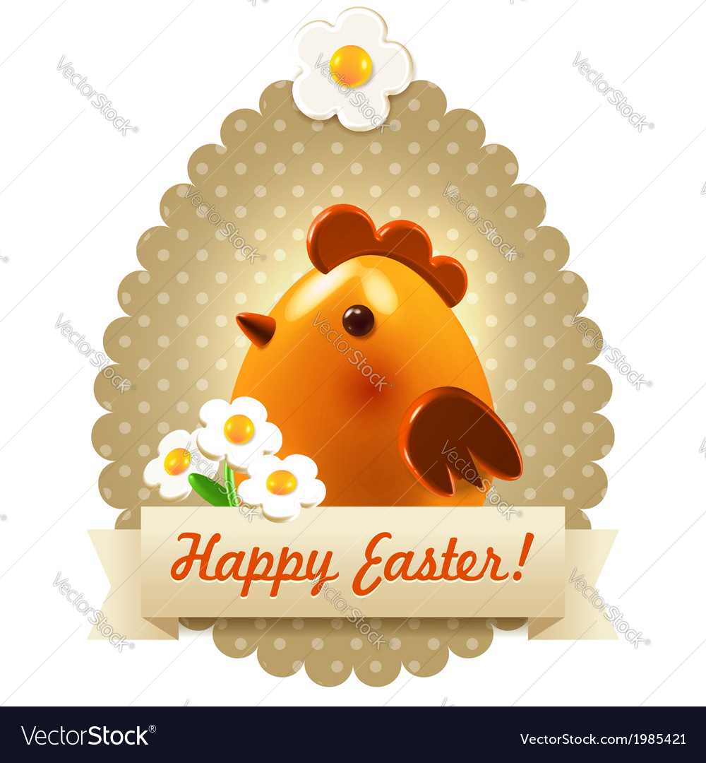 Easter postcard greetings vector | Price:  Credit (USD $)