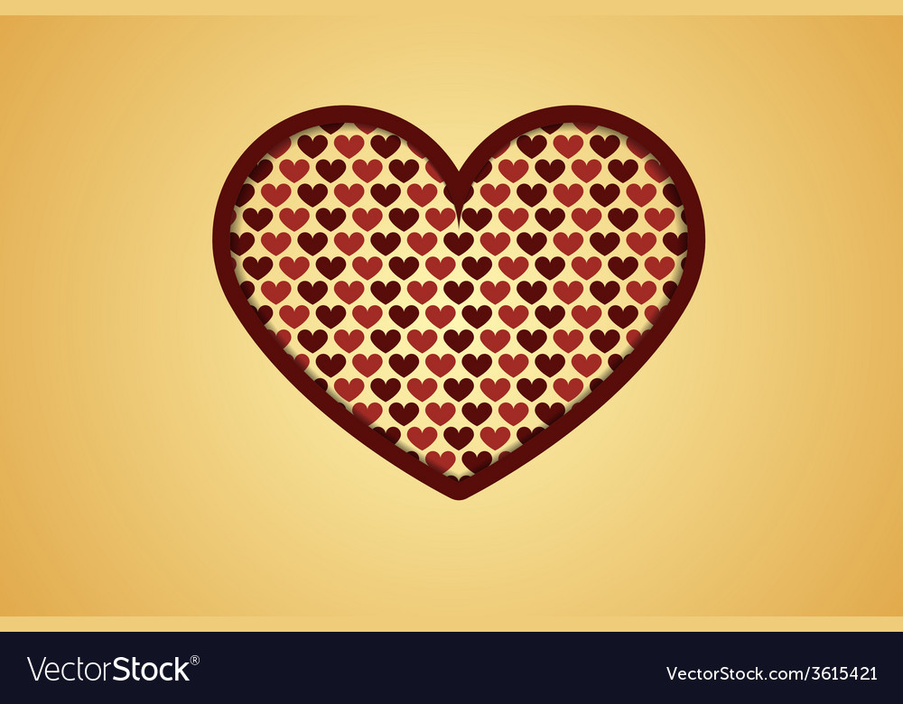 Heart with hearts vector | Price: 1 Credit (USD $1)