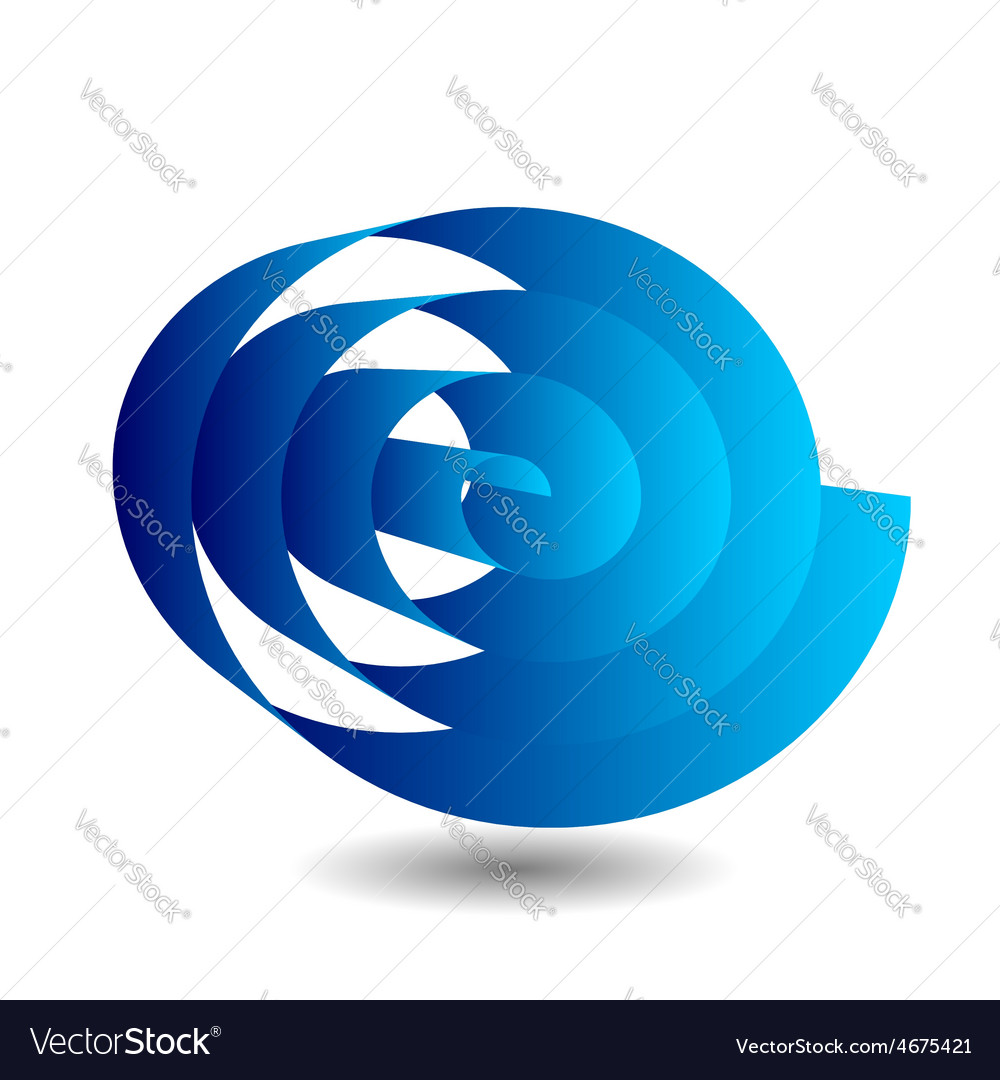 Ribbon scroll in blue with shadow vector | Price: 1 Credit (USD $1)