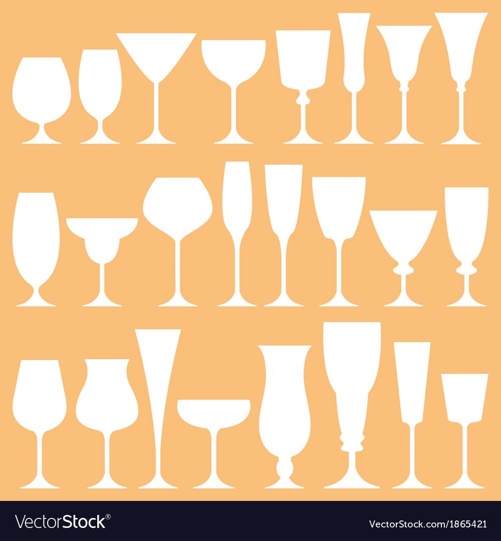 Set of wine glass icon vector | Price: 1 Credit (USD $1)