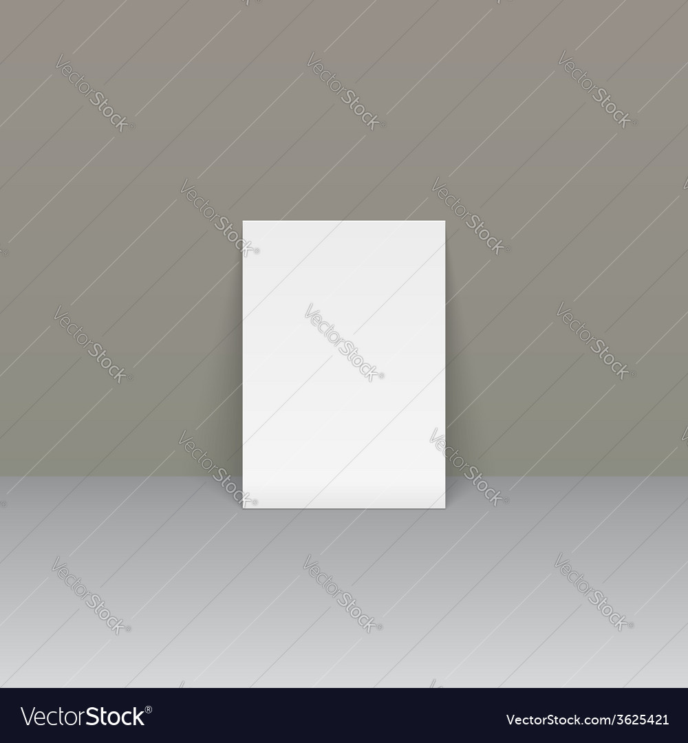 Sheet of paper beside the wall vector | Price: 1 Credit (USD $1)