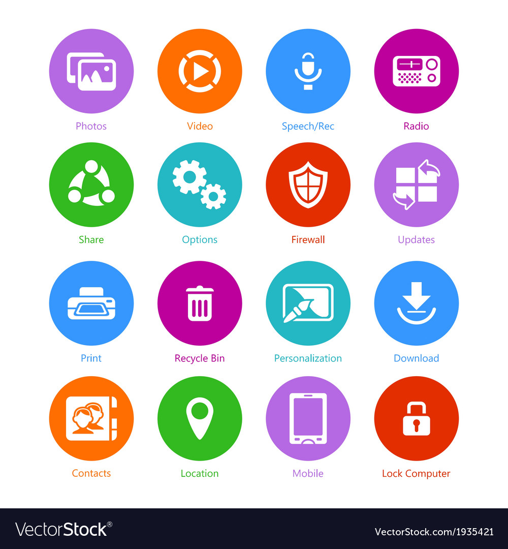 System flat icons - set ii vector | Price: 1 Credit (USD $1)