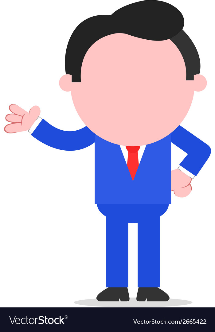 Businessman gesturing vector | Price: 1 Credit (USD $1)