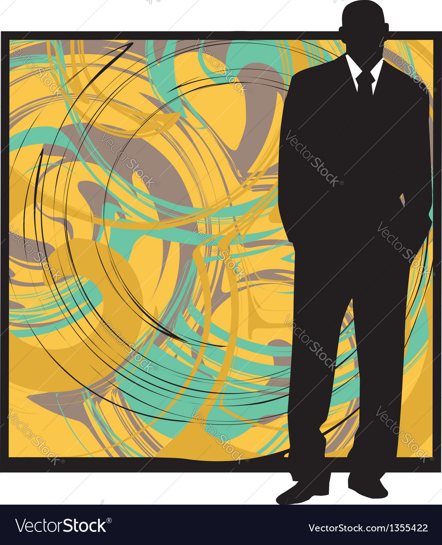 Businessman in suit silhouette vector | Price: 1 Credit (USD $1)