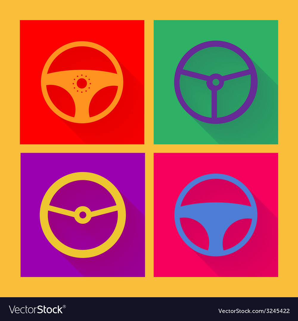 Car wheel icon in flat style vector | Price: 1 Credit (USD $1)