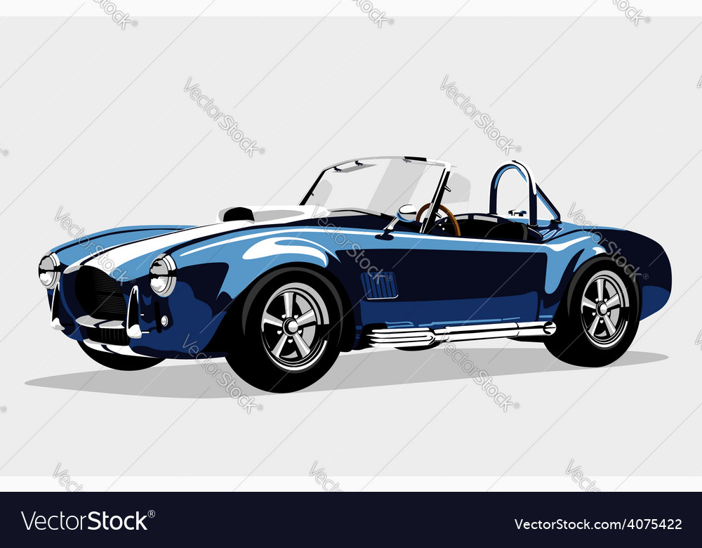 Classic sport blue car ac shelby cobra roadster vector | Price: 3 Credit (USD $3)