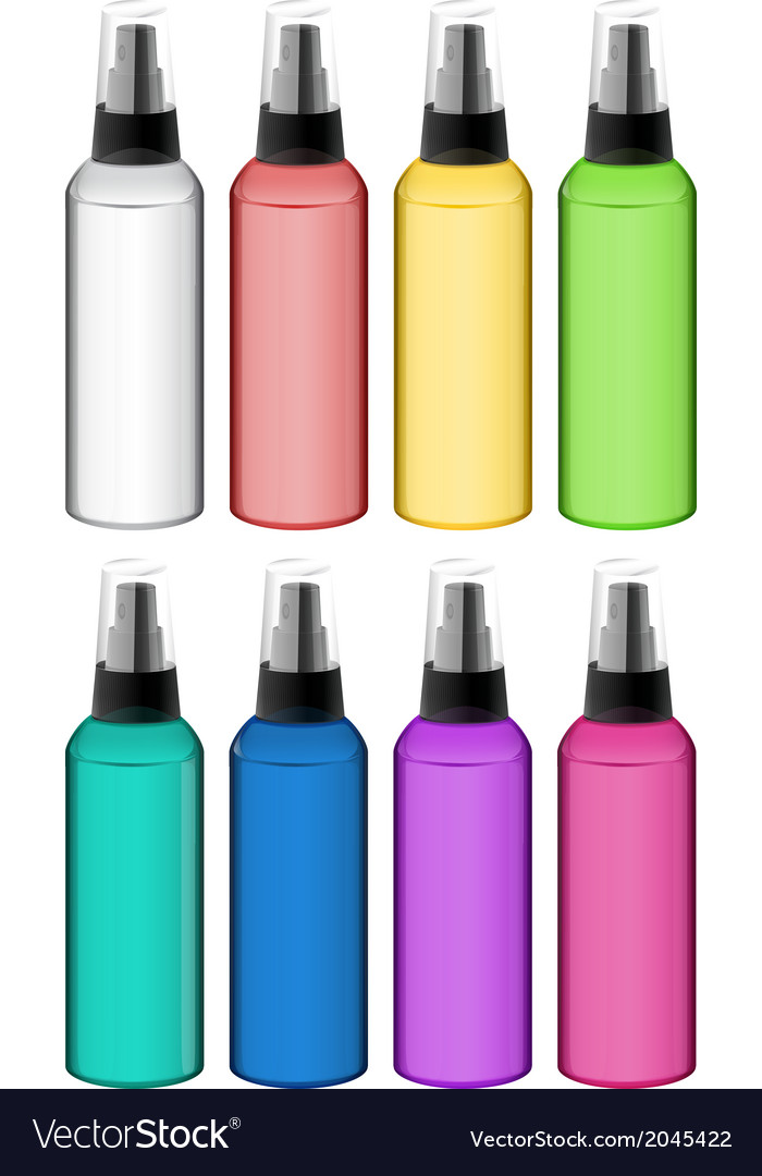 Collection of spray bottles vector | Price: 1 Credit (USD $1)