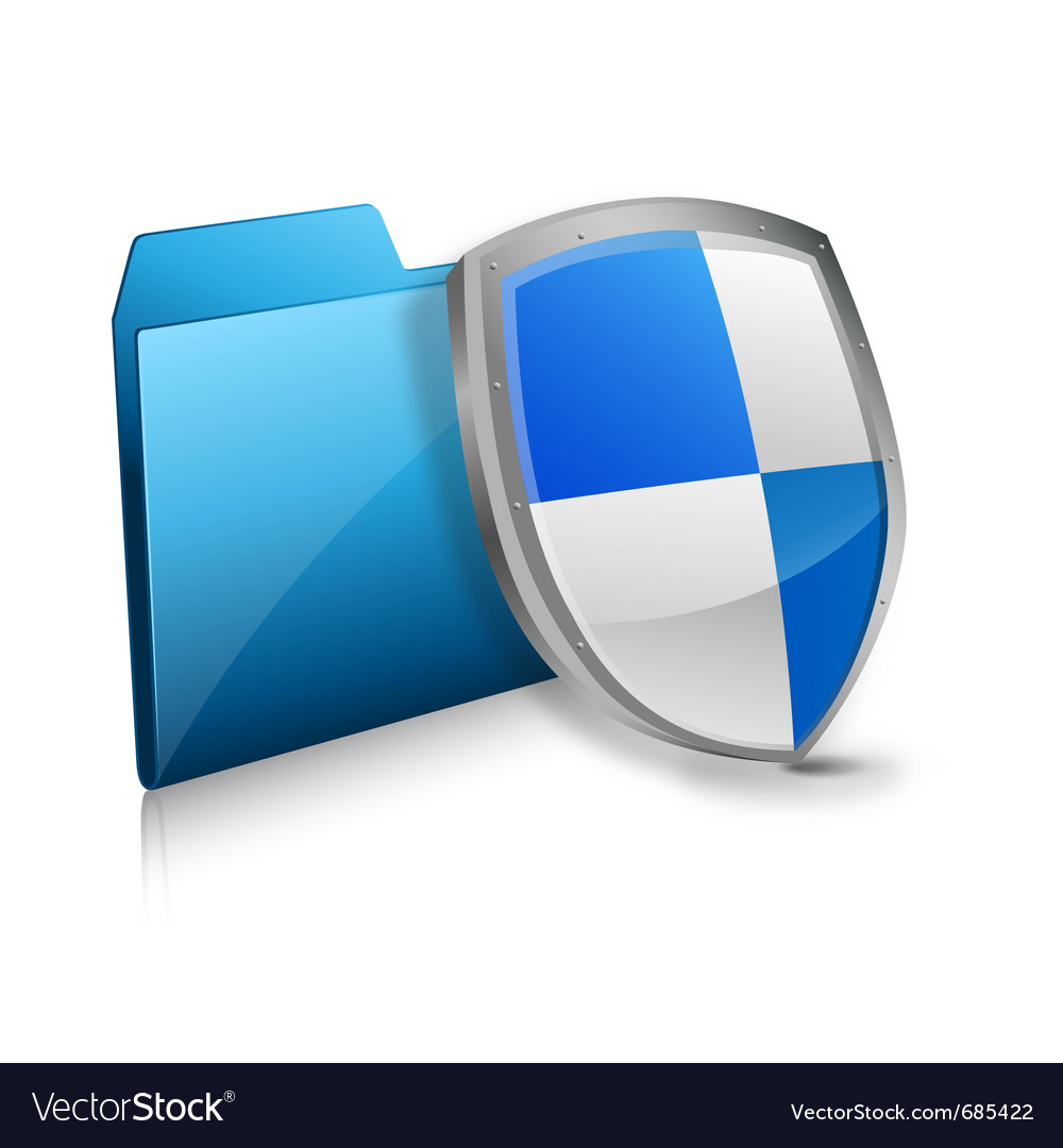 File and protection shield vector | Price: 1 Credit (USD $1)