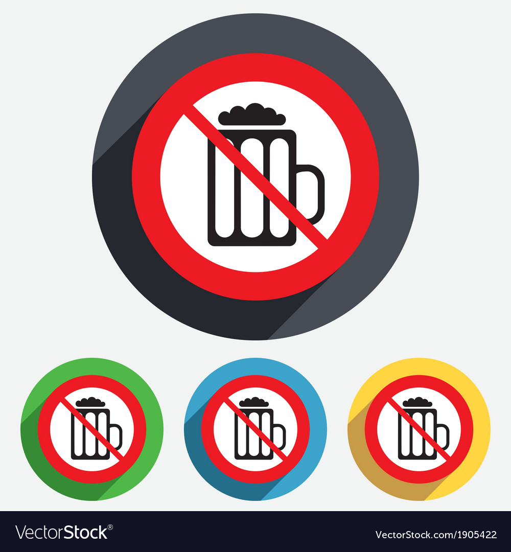 Glass of beer sign icon no alcohol drink symbol vector | Price: 1 Credit (USD $1)