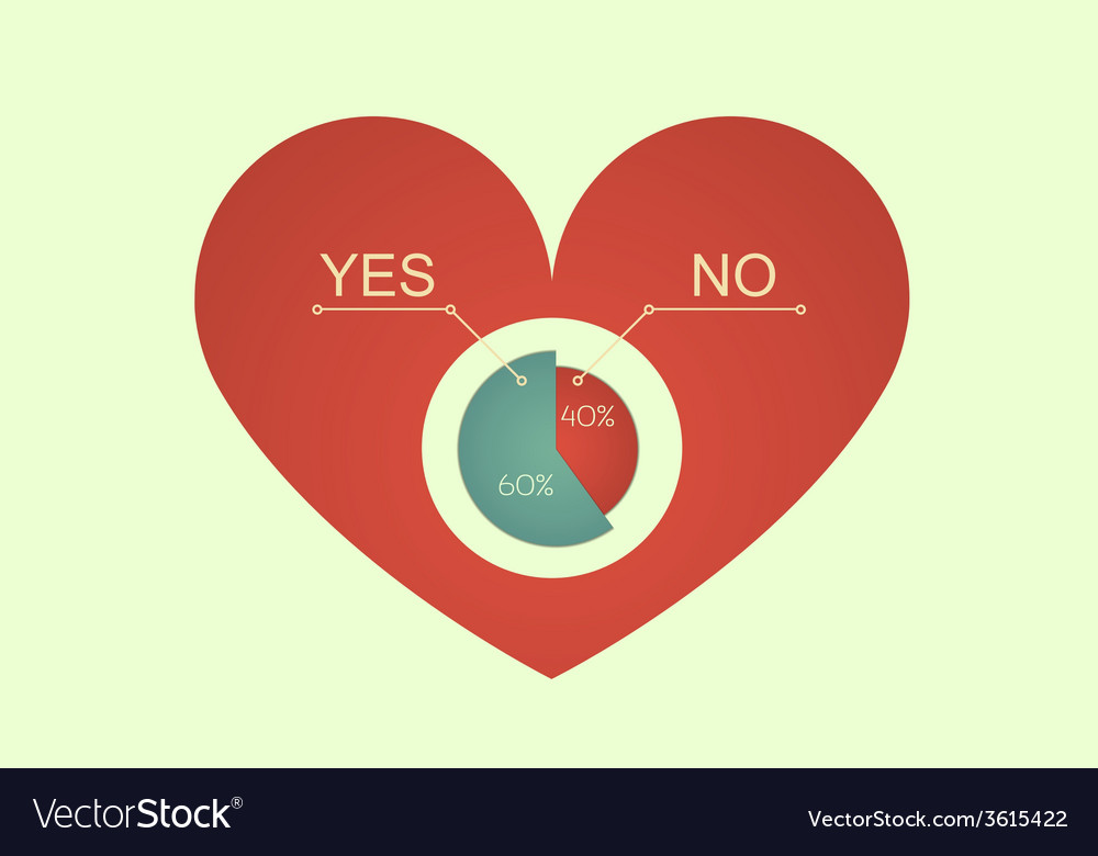 Heart decision vector | Price: 1 Credit (USD $1)