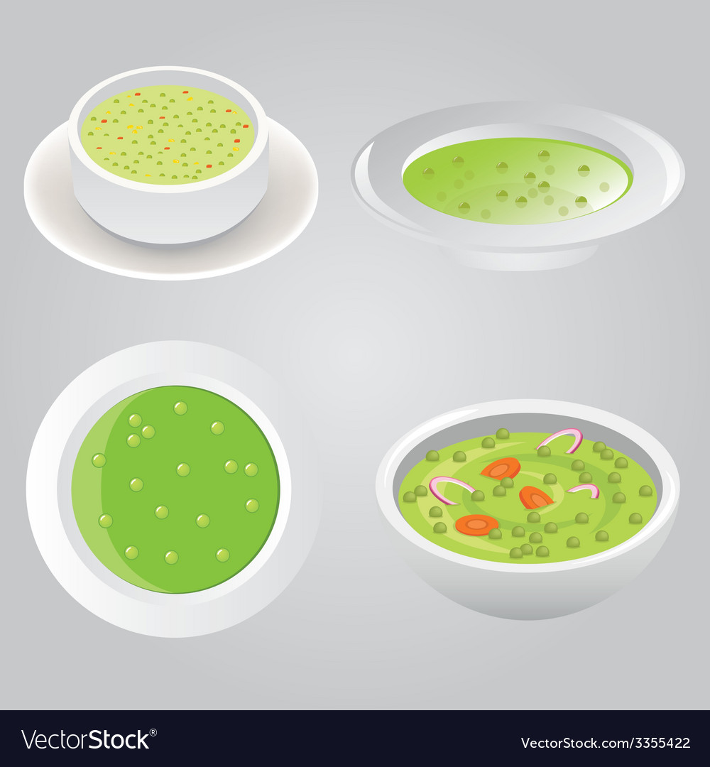 Pea soup collection vector | Price: 1 Credit (USD $1)
