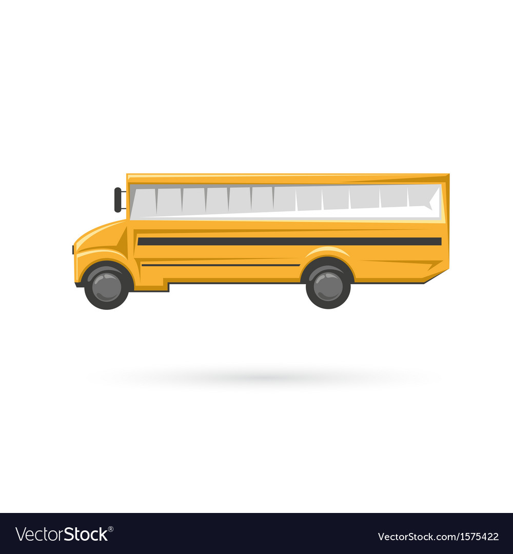 School bus isolated on a white backgrounds vector | Price: 1 Credit (USD $1)