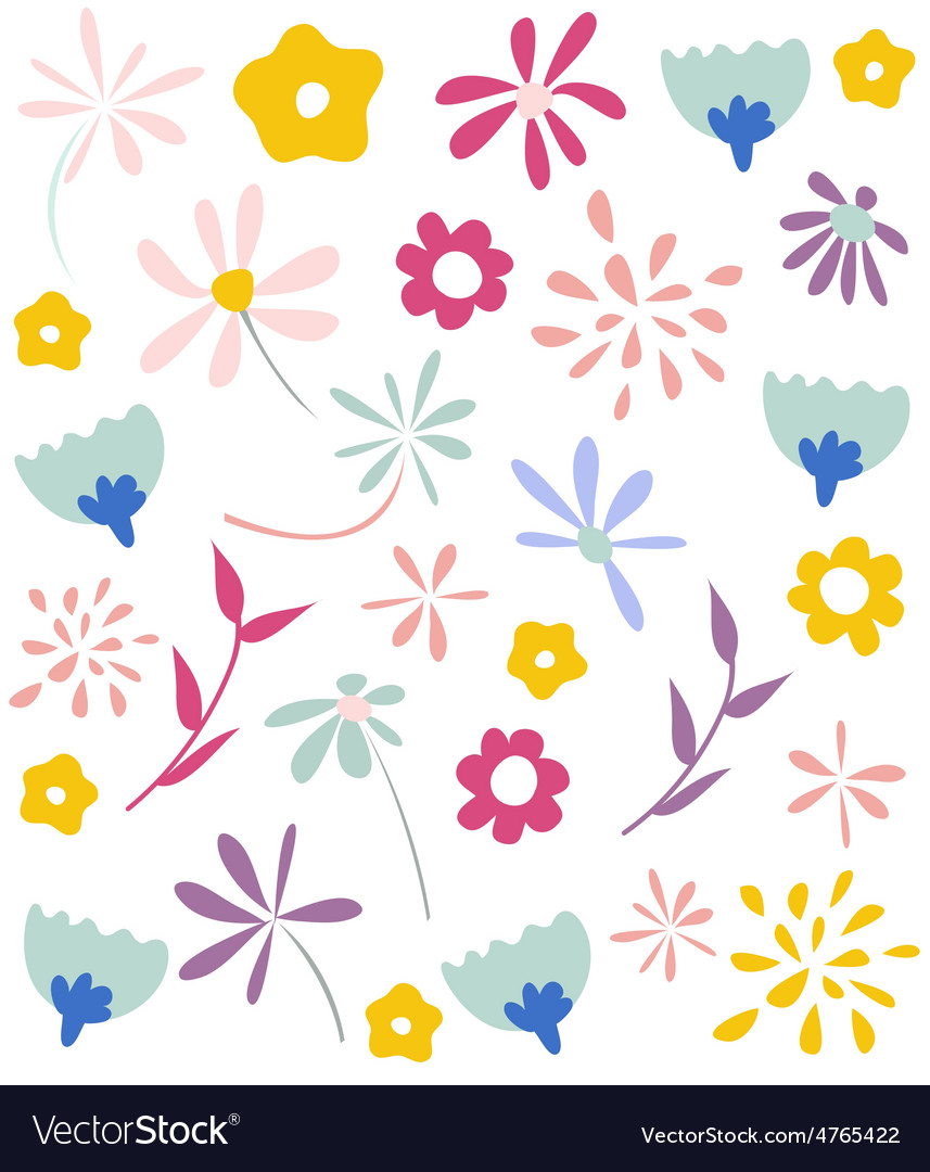 Seamless floral pattern wallpaper vector | Price: 1 Credit (USD $1)