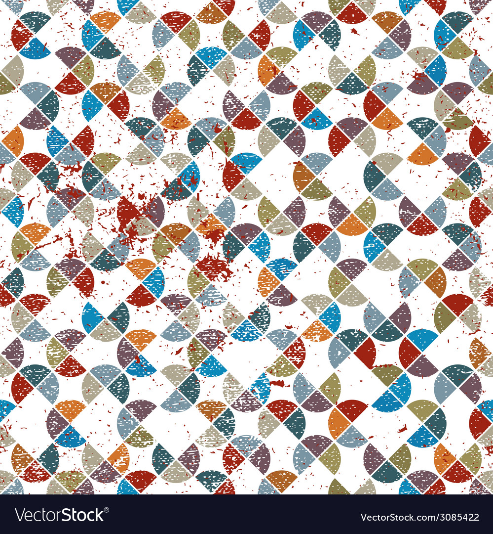 Seamless retro pattern tiles background with messy vector | Price: 1 Credit (USD $1)