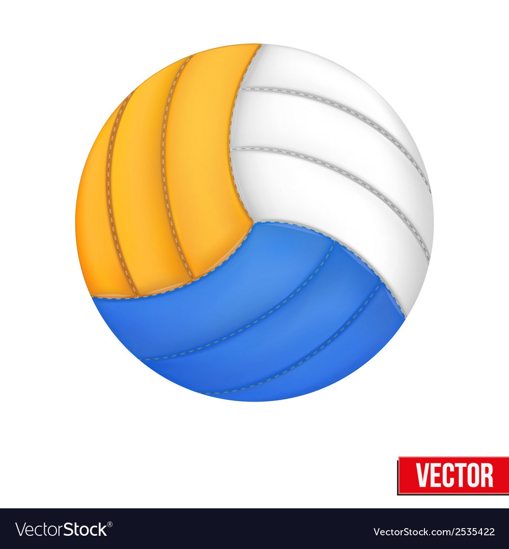 Volleyball in three colors  isolated on white vector | Price: 1 Credit (USD $1)