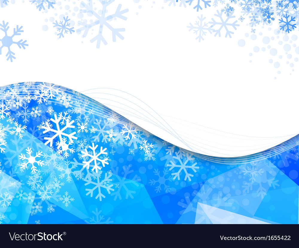 Wavy frame with snowflakes vector | Price: 1 Credit (USD $1)