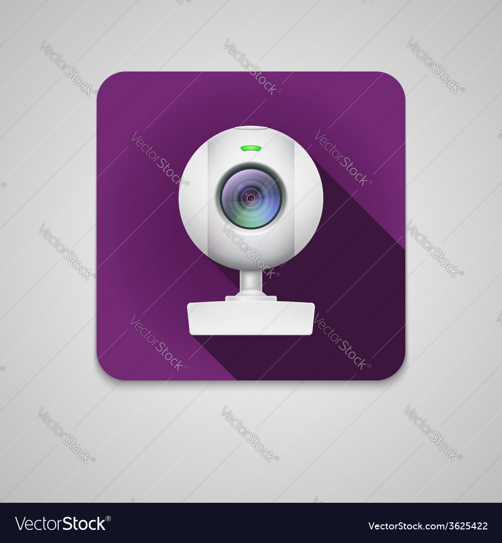 Webcam of white plastic vector | Price: 1 Credit (USD $1)