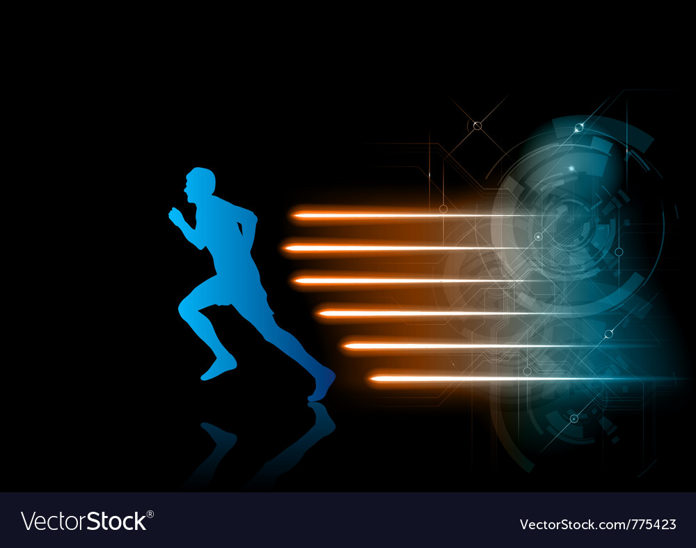 Blue runner vector | Price: 1 Credit (USD $1)