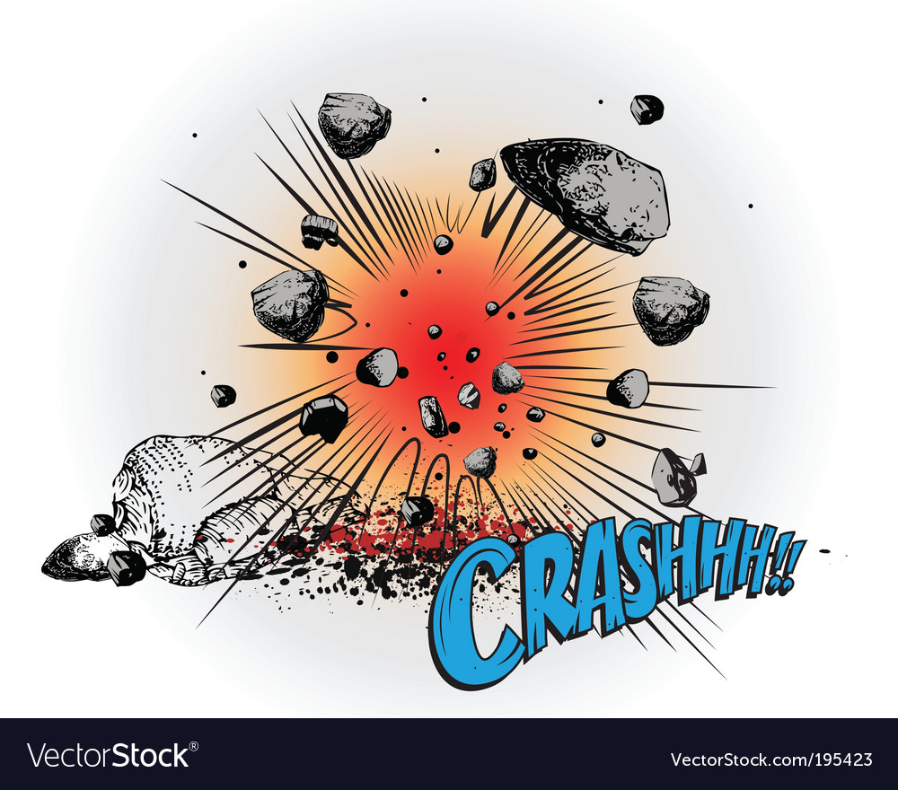 Comic book crash vector | Price: 1 Credit (USD $1)