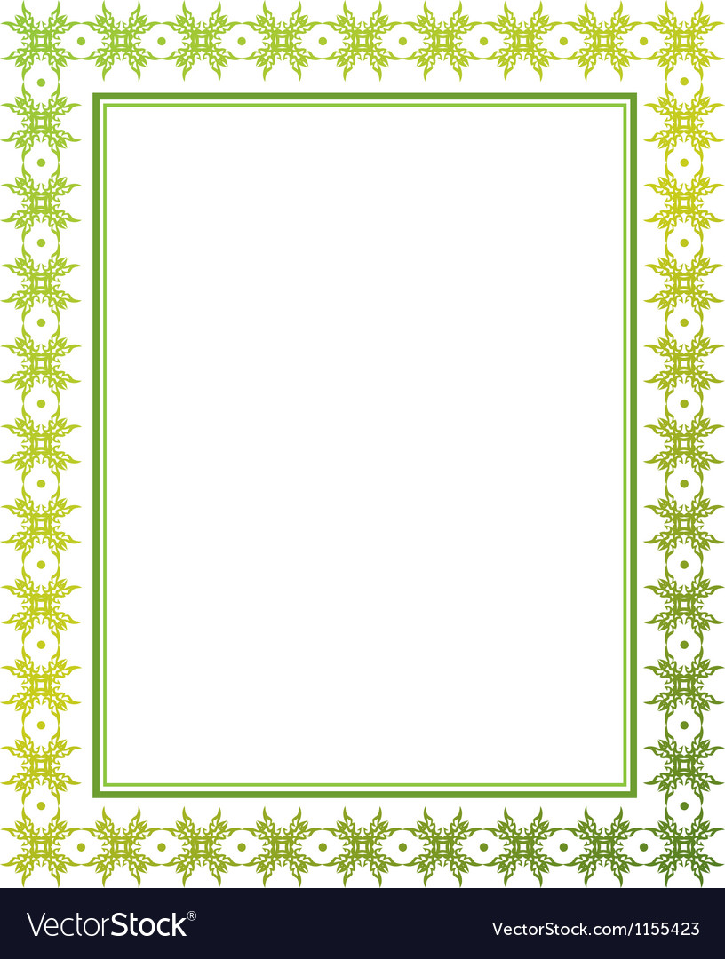 Green floral frame vector | Price: 1 Credit (USD $1)