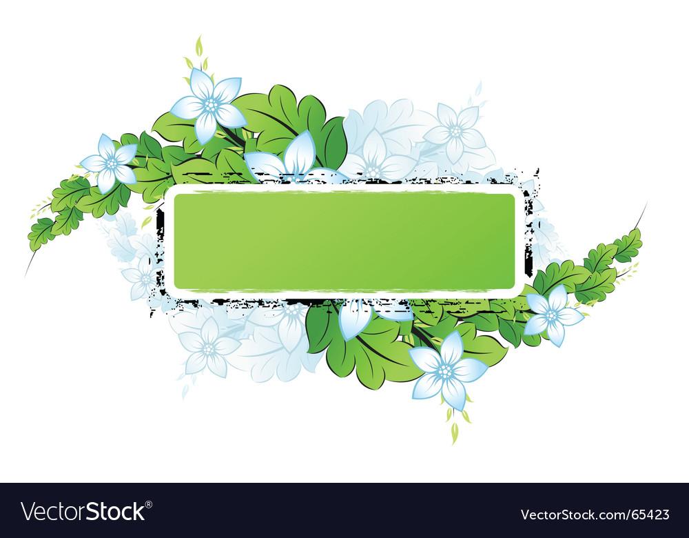 Grunge flowers frame vector | Price: 1 Credit (USD $1)