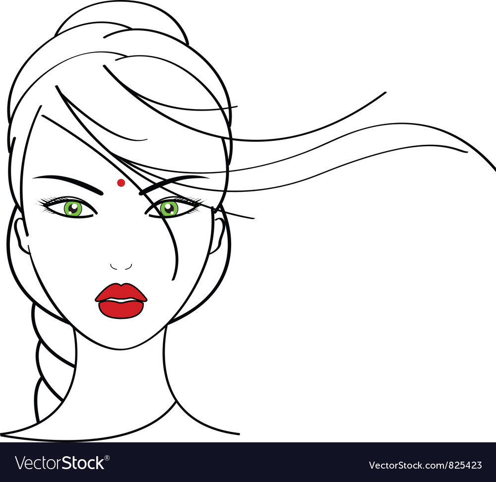 Indian woman vector | Price: 1 Credit (USD $1)