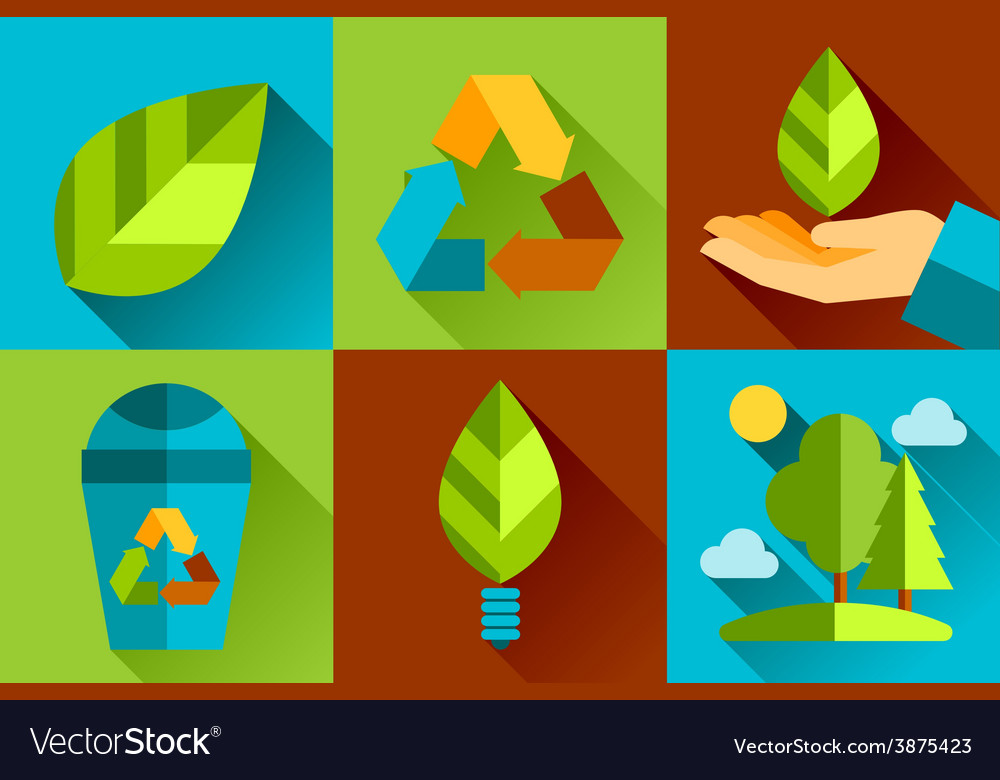 Modern flat design conceptual ecological vector | Price: 1 Credit (USD $1)
