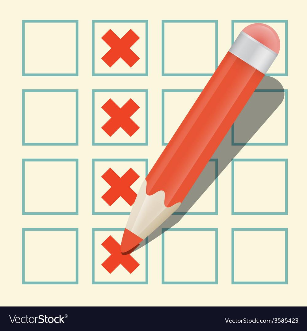 Pencil check option vector | Price: 1 Credit (USD $1)