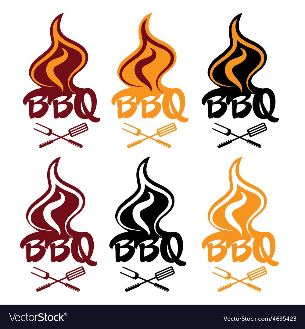 Set of bbq design template vector | Price: 1 Credit (USD $1)