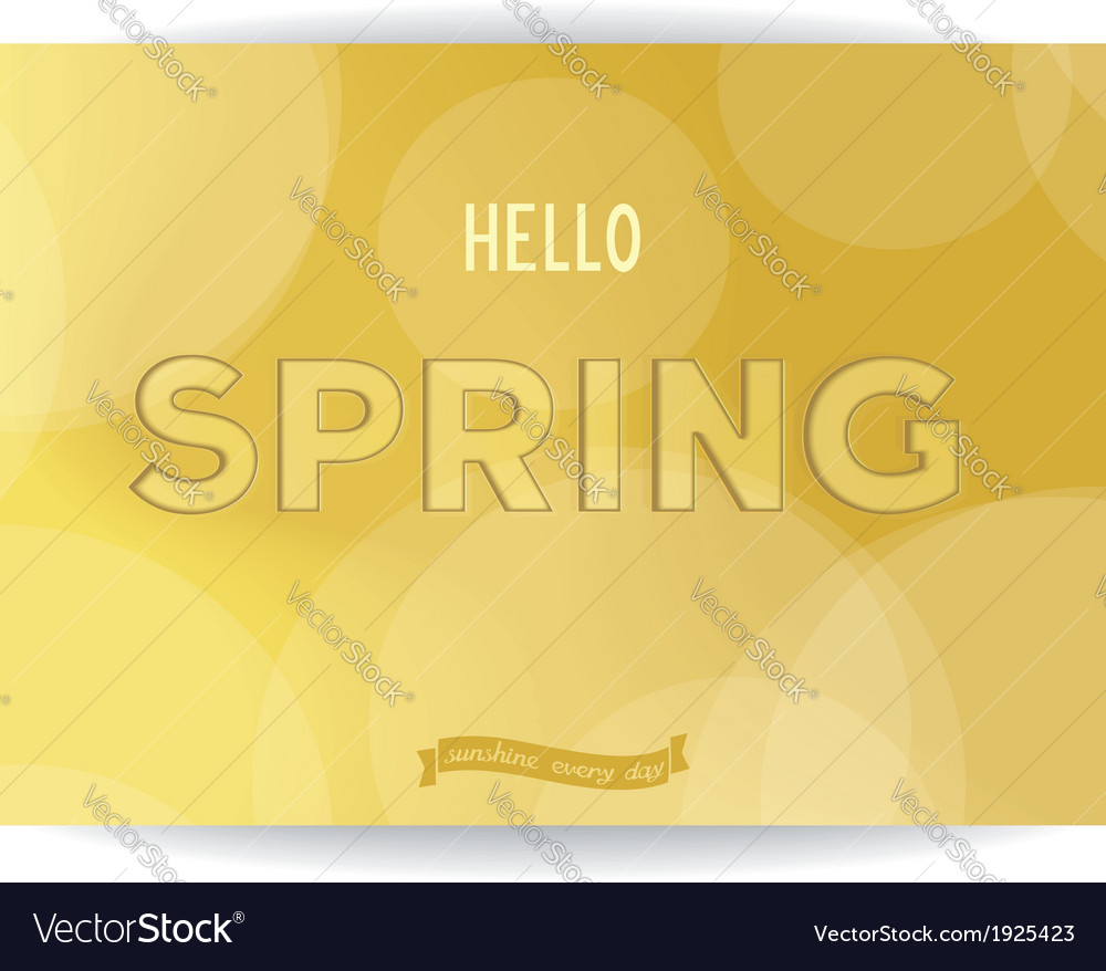 Spring golden inscription vector | Price: 1 Credit (USD $1)