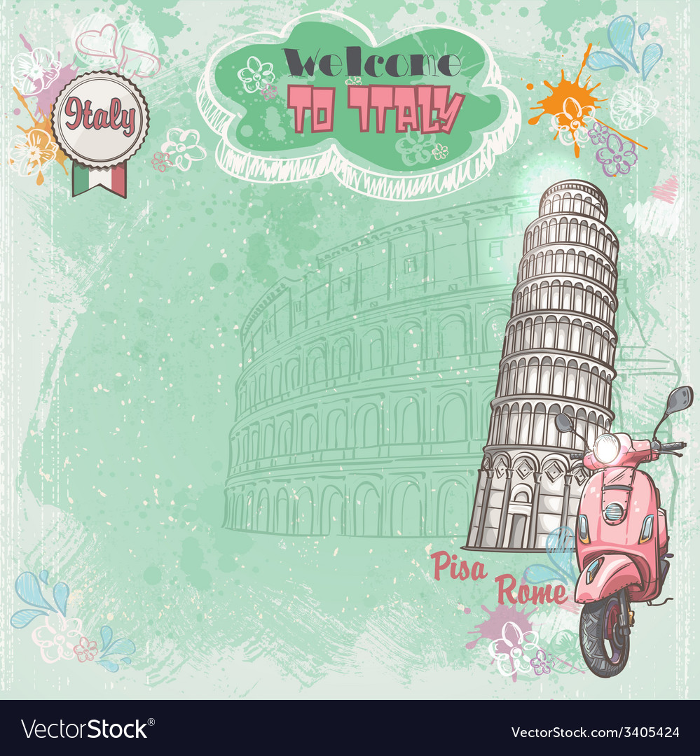 Background of italy for your text with the image vector | Price: 1 Credit (USD $1)