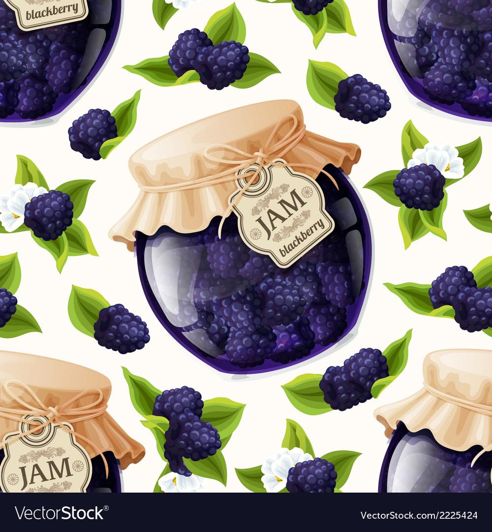 Blackberry jam glass vector | Price: 1 Credit (USD $1)