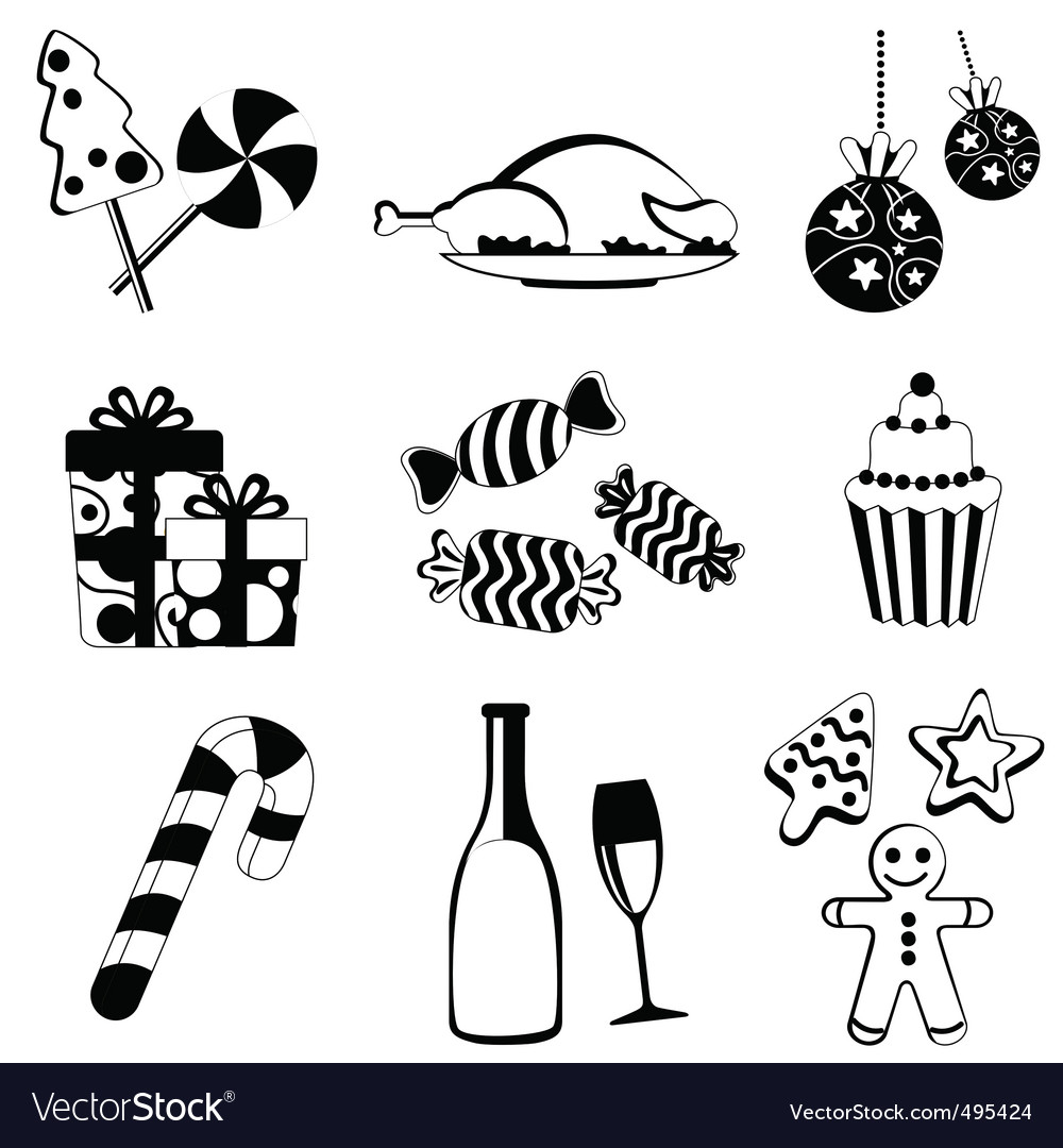 Christmas food and drink vector | Price: 1 Credit (USD $1)