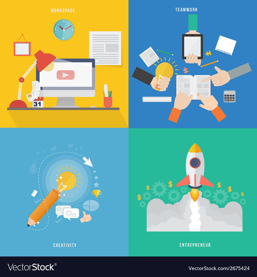 Element of workspace creative teamwork and vector | Price: 1 Credit (USD $1)