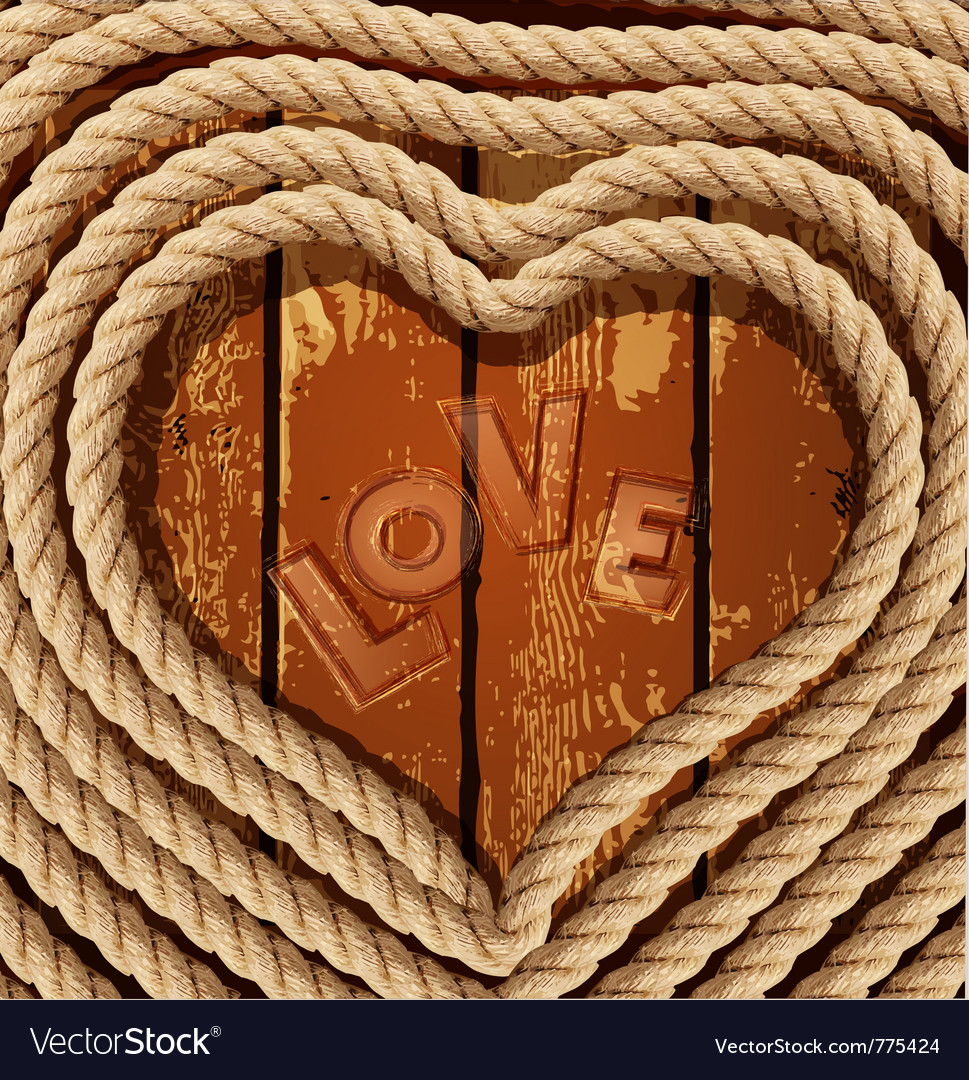 Heart of coiled rope vector | Price: 1 Credit (USD $1)
