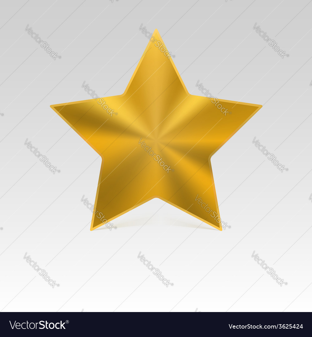 Metal star with shadow vector | Price: 1 Credit (USD $1)