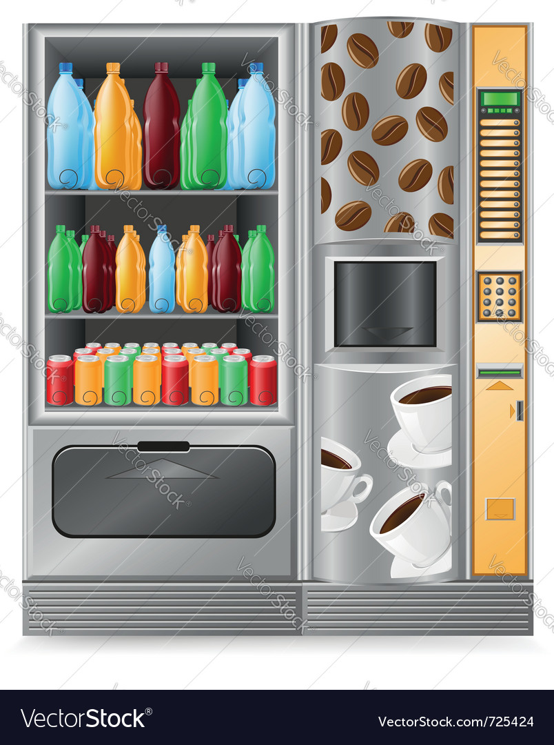 Vending coffee and water is a machine vector | Price: 3 Credit (USD $3)