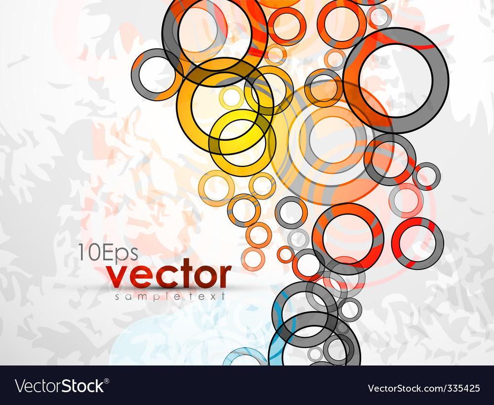Abstract circles design vector