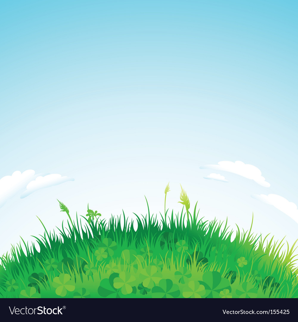 Background grass vector | Price: 1 Credit (USD $1)