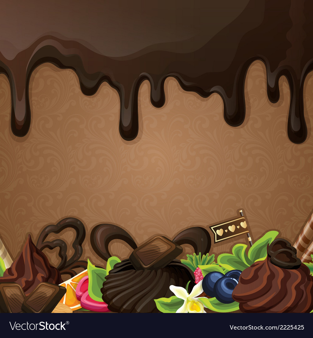 Black chocolate sweets background vector | Price: 1 Credit (USD $1)