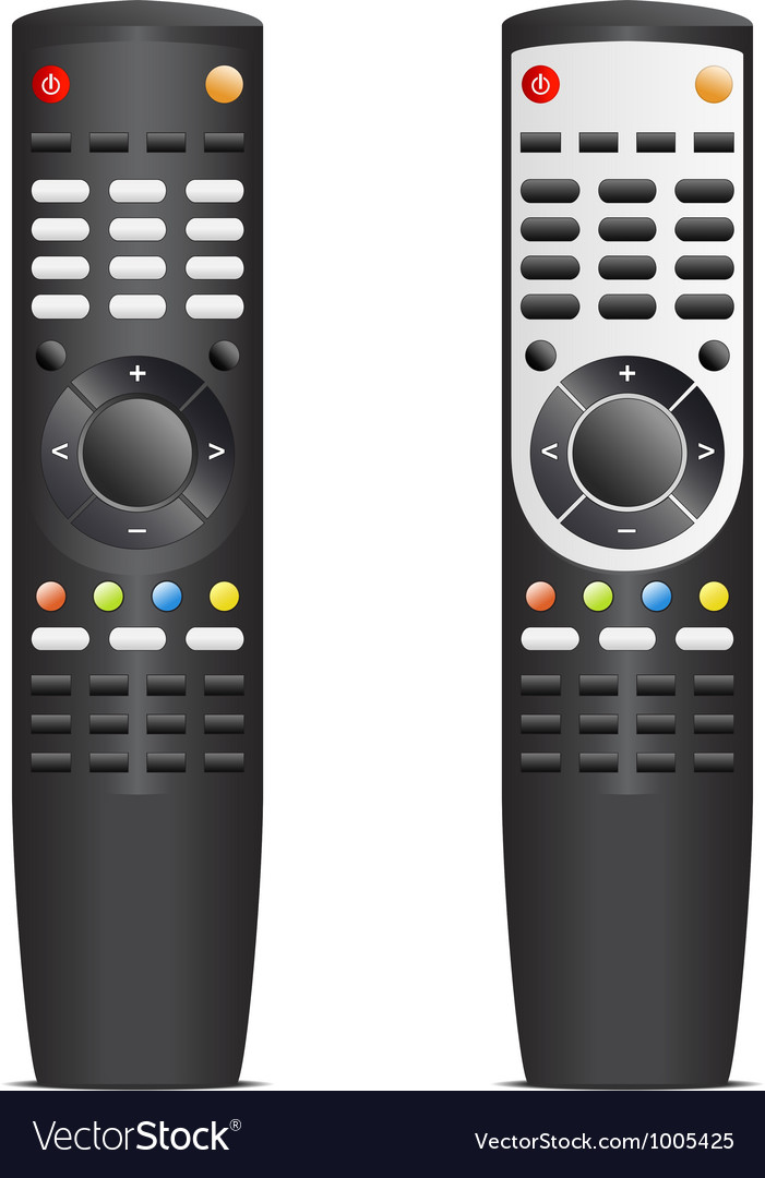 Black remote control vector | Price: 3 Credit (USD $3)