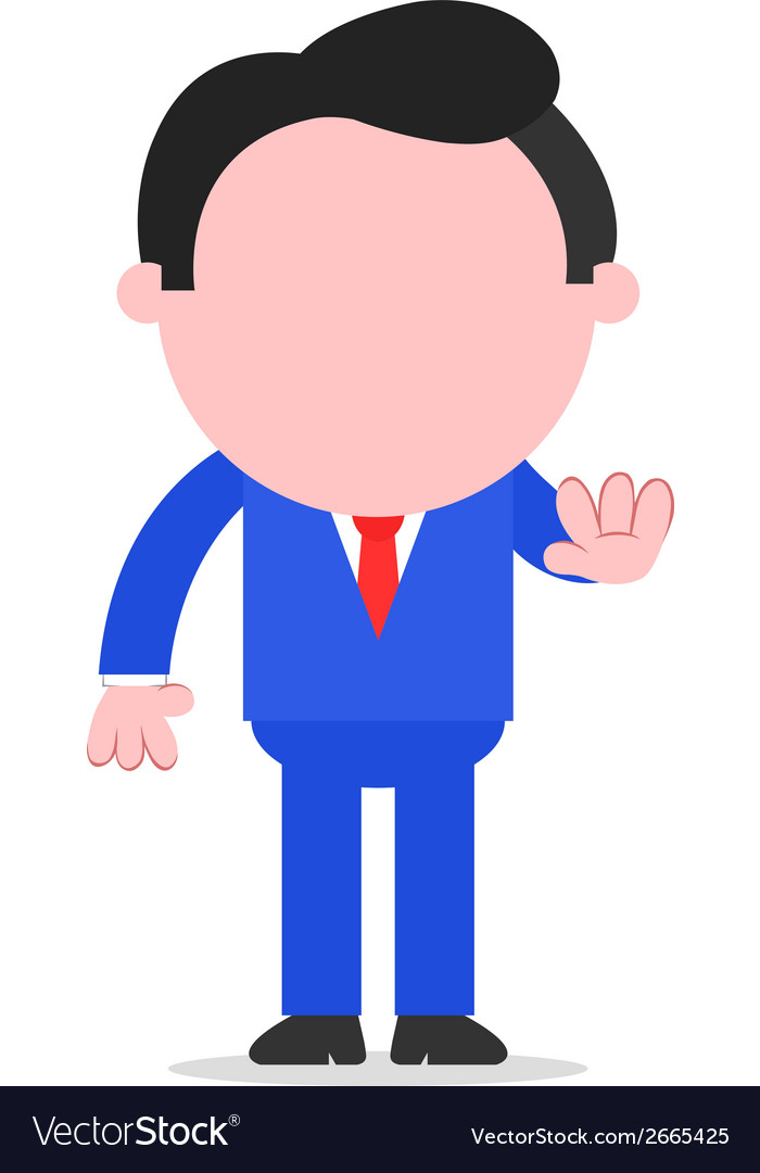 Businessman gesturing stop vector | Price: 1 Credit (USD $1)
