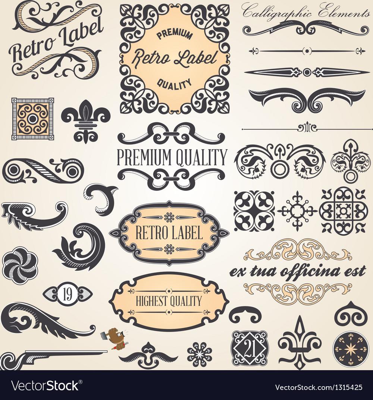 Calligraphic designcs7 vector | Price: 1 Credit (USD $1)