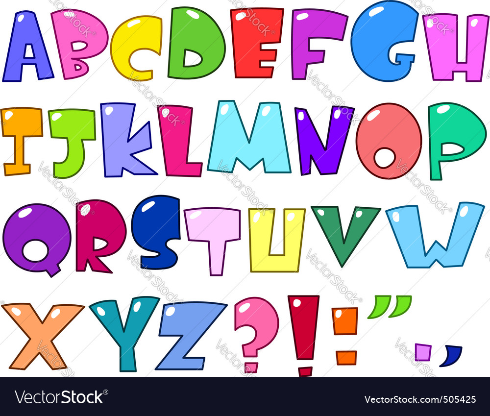 Cartoon alphabet vector | Price: 1 Credit (USD $1)